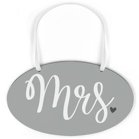 Oval Sign - Mrs.