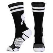 Hockey Woven Mid-Calf Socks - Player (Black/White)