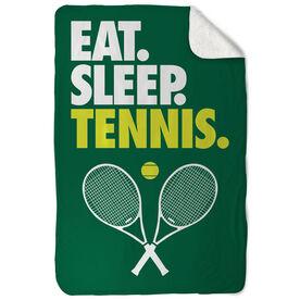 Tennis Sherpa Fleece Blanket - Eat. Sleep. Tennis. Vertical