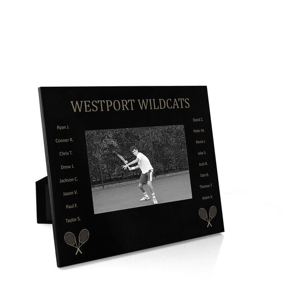 Tennis Engraved Picture Frame - Team Name With Roster
