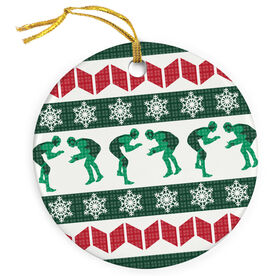 Wrestling Porcelain Ornament Ugly Sweater