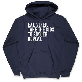 Soccer Standard Sweatshirt - Eat Sleep Take The Kids To Soccer