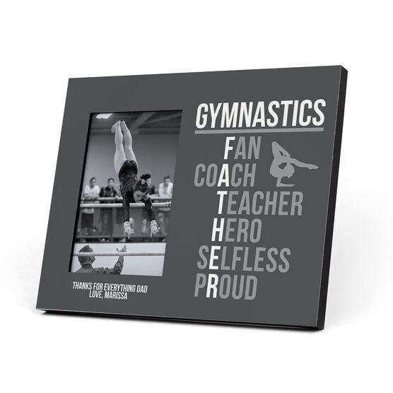 Gymnastics Photo Frame - Gymnastics Father Words (Girl Gymnast)
