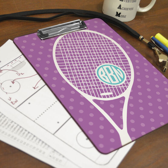 Tennis Custom Clipboard Monogrammed Tennis Life