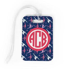 Gymnastics Bag/Luggage Tag - Personalized Gymnastics Pattern Monogram