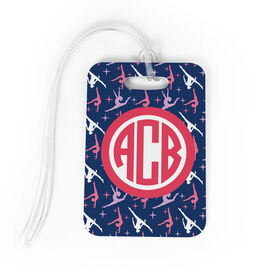 Gymnastics Bag/Luggage Tag - Personalized Gymnastics Pattern Monogram
