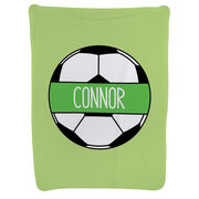 Soccer Baby Blanket - Personalized Soccer Ball
