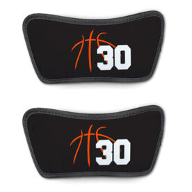 Basketball Repwell™ Sandal Straps - Basketball Lines with Number