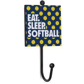 Softball Medal Hook - Eat. Sleep. Softball.