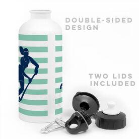 Field Hockey 20 oz. Stainless Steel Water Bottle - Shootout Stripes