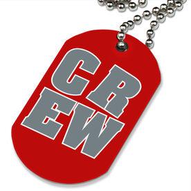 CREW Block Printed Dog Tag Necklace