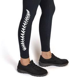 Baseball Leggings Baseball Stitches