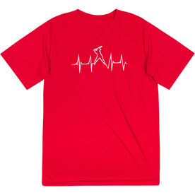 Softball Short Sleeve Performance Tee - Heartbeat Batter