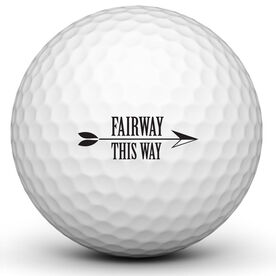 Fairway This Way Golf Ball