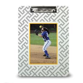 Softball Custom Clipboard Softball Your Photo Pattern