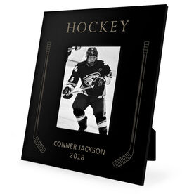 Hockey Engraved Picture Frame Hockey Sticks