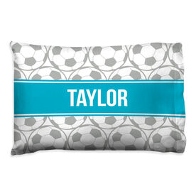 Soccer Pillowcase - Personalized Ball Pattern