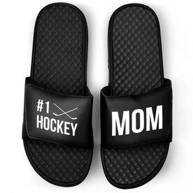 Hockey Black Slide Sandals - #1 Hockey Mom