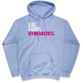 Gymnastics Hooded Sweatshirt - Eat. Sleep. Gymnastics.