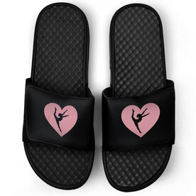 Gymnastics Black Slide Sandals - Gymnastics in my Heart