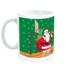 Basketball Coffee Mug Santa