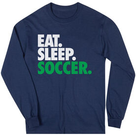 Soccer T-Shirt Long Sleeve Eat. Sleep. Soccer.