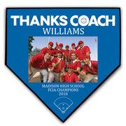 Baseball Home Plate Plaque - Thank You Coach Photo