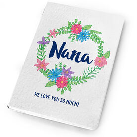 Personalized Notebook - Nana Floral Wreath