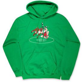 Wrestling Hooded Sweatshirt - Wrestling Reindeer