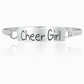 Cheer Engraved Clasp Bracelet Cheer Girl