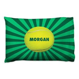 Tennis Pillowcase - Personalized Starburst Ball