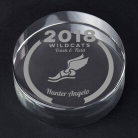 Track and Field Personalized Engraved Crystal Gift - Custom Team Award