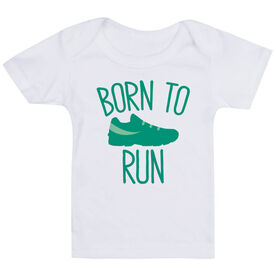 Running Baby T-Shirt - Born To Run