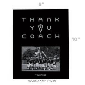 Guys Lacrosse Photo Frame - Thank You Coach