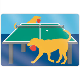 "Ping Pong 18"" X 12"" Aluminum Room Sign - Pongo The Ping Pong Dog"
