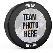 Personalized Hockey Puck - Your Team Photo with Text