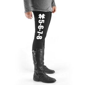 Cheerleading High Print Leggings - 5-6-7-8