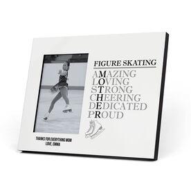 Figure Skating Photo Frame - Mother Words