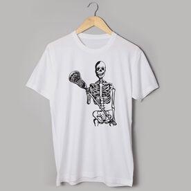 Guys Lacrosse Short Sleeve T-Shirt - Skeleton (Black)