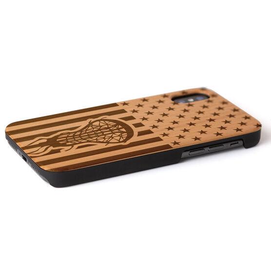 Girls Lacrosse Engraved Wood IPhone® Case - USA Lacrosse