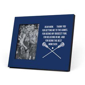 Girls Lacrosse Photo Frame - Dear Mom Heart