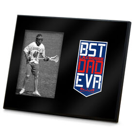 Guys Lacrosse Photo Frame - Best Dad Ever Shield