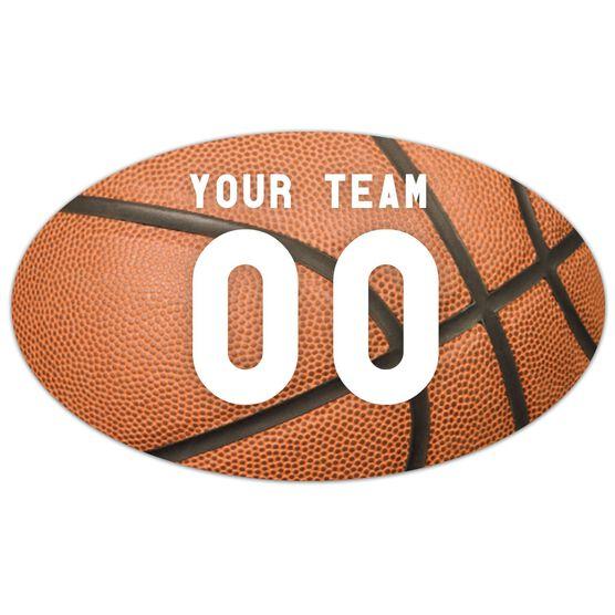 Basketball Oval Car Magnet Basketball Texture