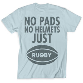 Vintage Rugby T-Shirt - No Pads No Helmets Just Rugby