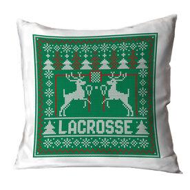 Lacrosse Throw Pillow - Lacrosse Christmas Knit