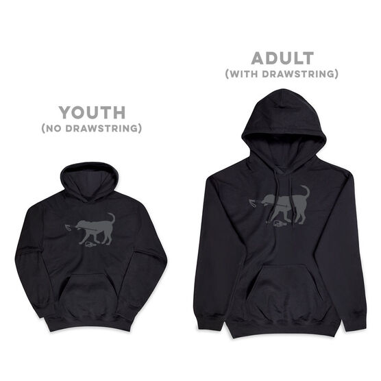 Skiing Hooded Sweatshirt - Ski Dog