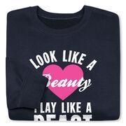 Tennis Crew Neck Sweatshirt - Look Like A Beauty Play Like A Beast