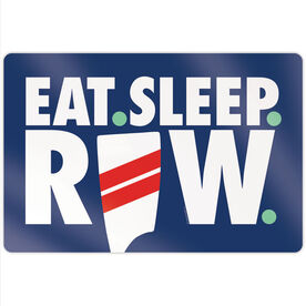 "Crew 18"" X 12"" Aluminum Room Sign - Eat Sleep Row"