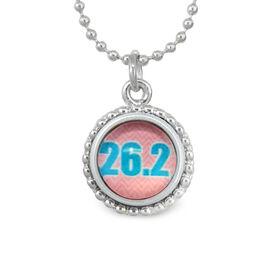 26.2 Pink Chevron SportSNAPS Necklace