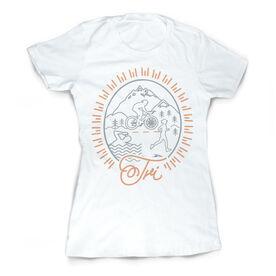 Vintage Triathlon Fitted T-Shirt - Tri Crest